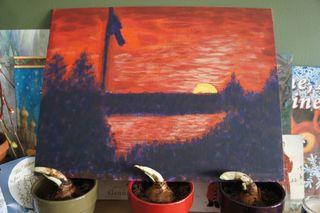 Acrylic landscape 2