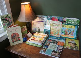Earth day library corner 1