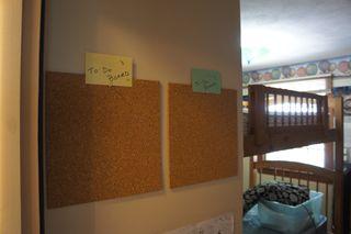 Cork tiles - boys room 2