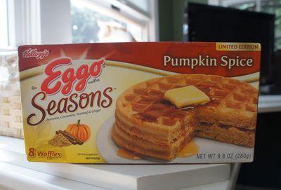 Waffles pumpkin spice