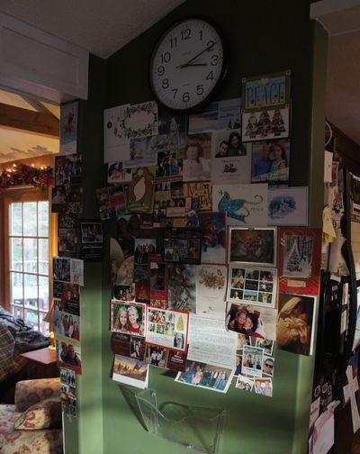 Christmas card wall 3