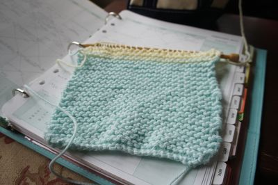 Knitting progress 1