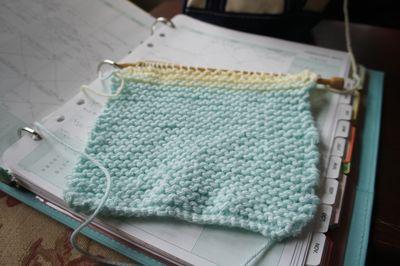 Knitting progress 1