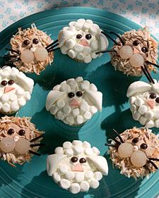 Lion lamb cupcakes