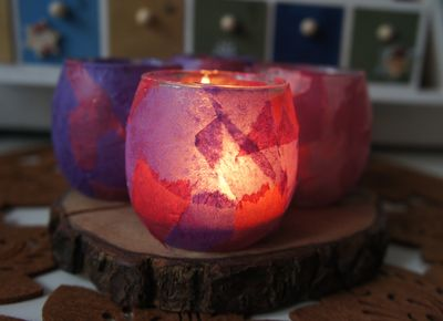 Advent candles lit