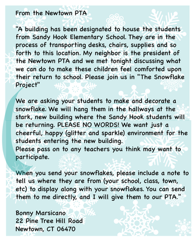 Newtown snowflake project
