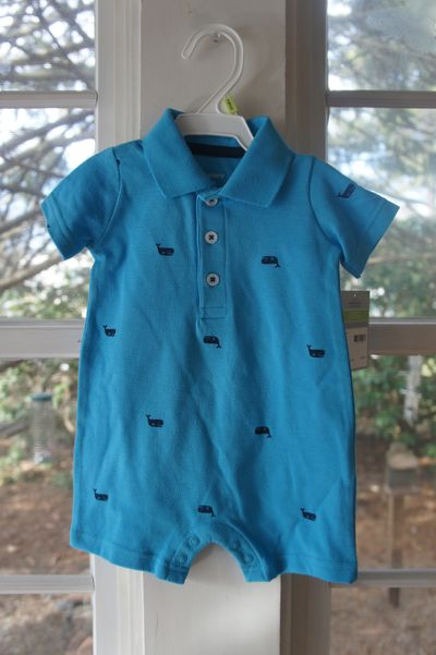 Baby whale romper