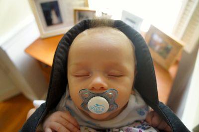 Owen in baby bjorn