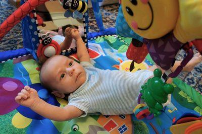 Owen under gym