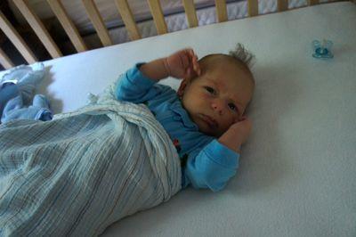 Owen's 1st crib morning