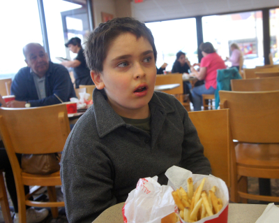 Owen at wendy's 8