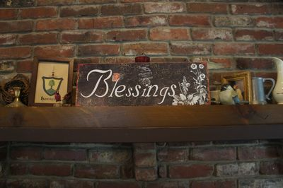 Blessings plaque