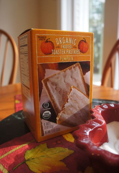 Pumpkin toaster pastries
