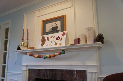 Thanksgiving banner mantel 1