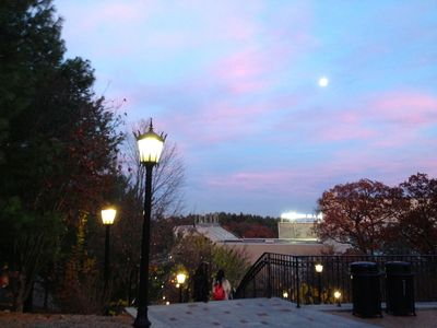 Bc sunset moon