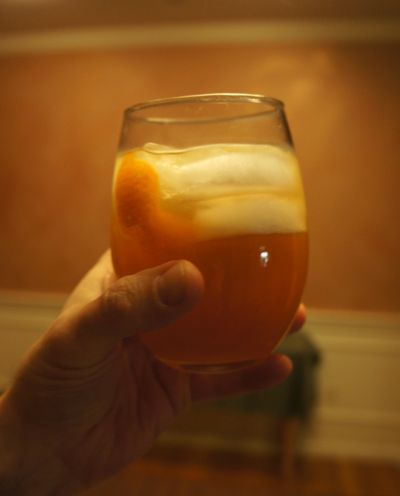 Apple ginger whiskey sour