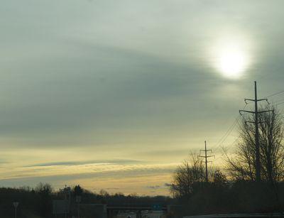 Advent peace sunrise road