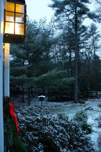 Advent peace snowfall