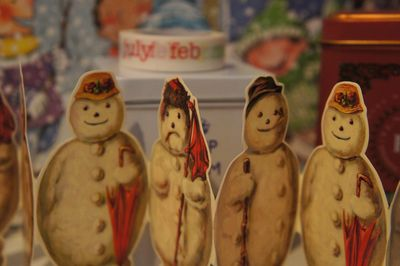 Advent joy snowman garland