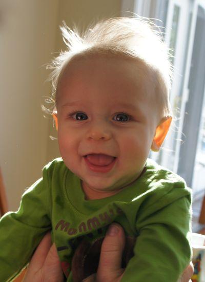 Owen 6 month checkup 2