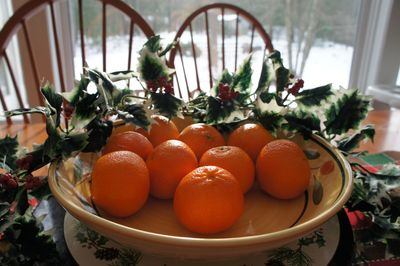 Advent joy clementines