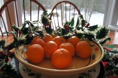Advent joy clementines