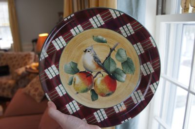 Tufted titmouse plate