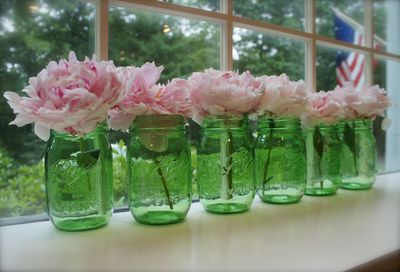 Peonies in jars 1