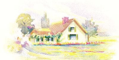 Vintage house clipart