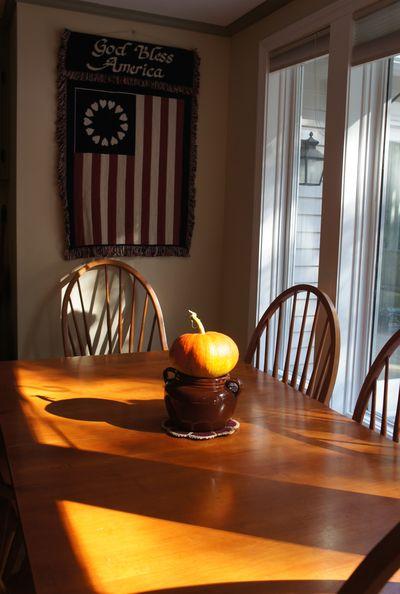 Pumpkin on table 1