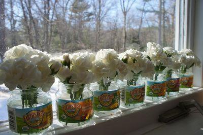 Carnations in window 1