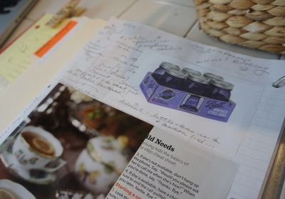 Purple jars in journal