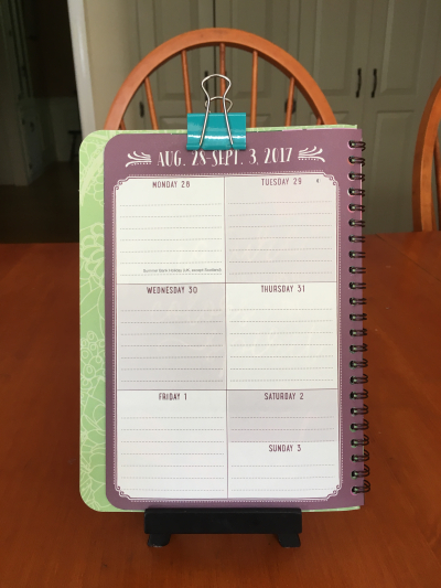 Week at a glance planner