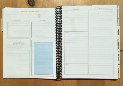 Planner before