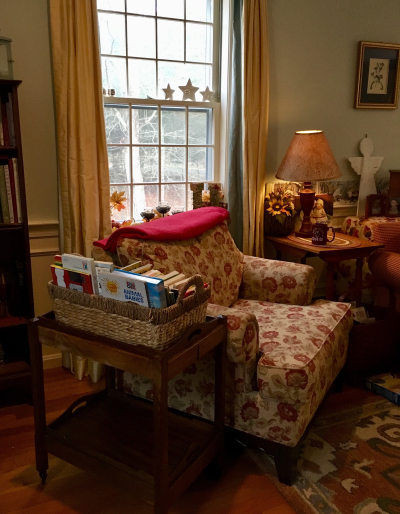 Cozy corner in library
