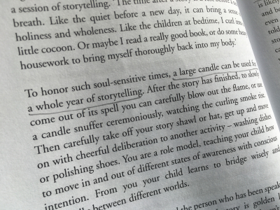 Candle for storytelling