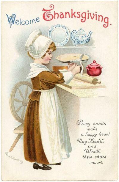 Vintage thanksgiving card 2