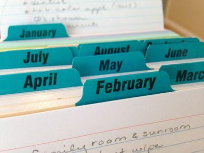 Housekeeping calendar 4