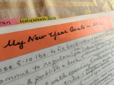 Planner goals for new year