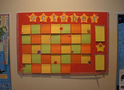 October calendar 2