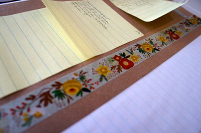 Pretty tape on page marker