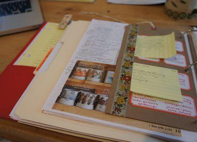 File folder in planner