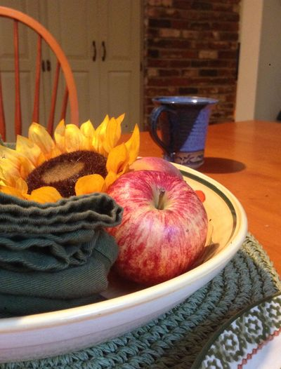 Summer dinner table still life