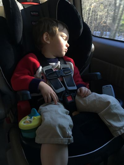 Sleeping in car