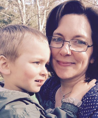Mama and owen, three years old