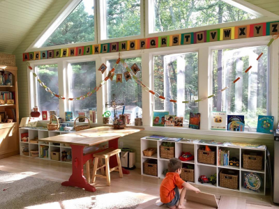 Sunny learning room