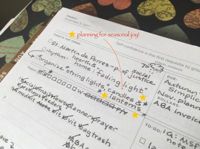 Planning for seasonal joy 2