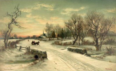 Winter scene crop